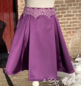 Pleat_skirt_satin_purple_full_length